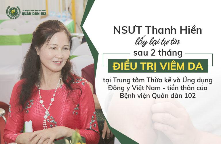 Nghệ sĩ Thanh Hiền khỏi bệnh viêm da sau 2 tháng điều trị