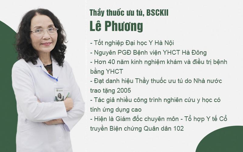 Bác sĩ Lê Phương có hơn 40 năm kinh nghiệm trong điều trị viêm xoang, viêm mũi