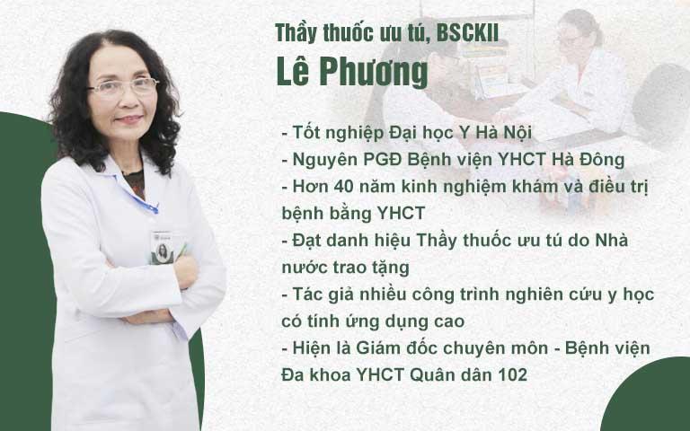 Bác sĩ Lê Phương - Giám đốc chuyên môn CTCP Tổ hợp y tế cổ truyền biện chứng Quân Dân 102