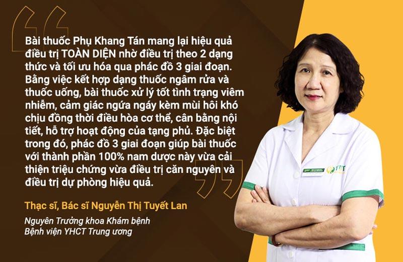 Bác sĩ Tuyết Lan nhận định thêm về bài thuốc