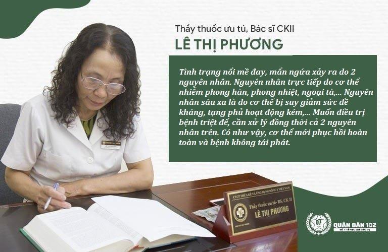Bác sĩ Lê Phương nói về phương pháp xử lý mề đay bằng Đông Y