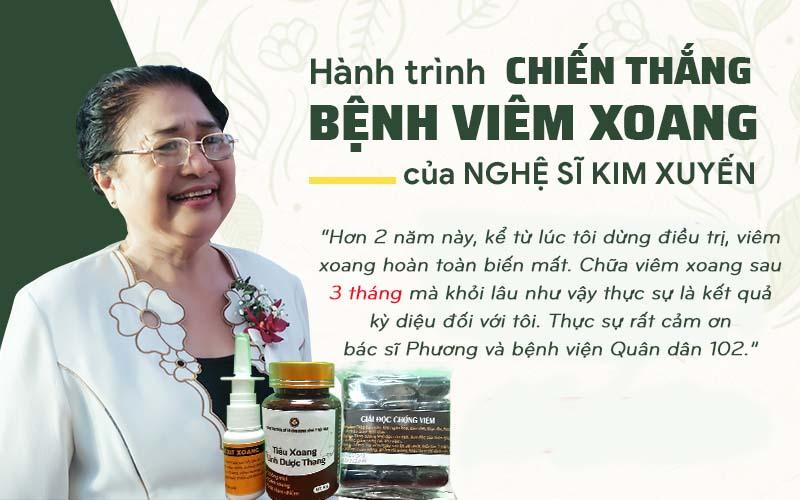 Nghệ sĩ Kim Xuyến chữa khỏi viêm xoang tại bệnh viện Tai Mũi Họng Quân dân 102