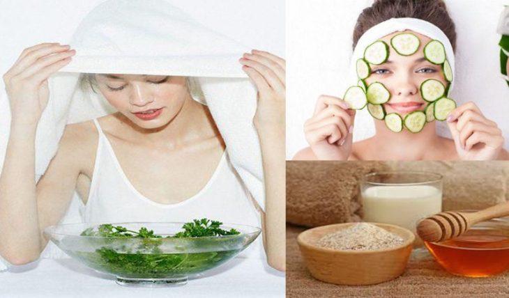 Sử dụng mặt nạ tự nhiên tại nhà để giảm bới triệu chứng da mặt khô ngứa mẩn đỏ