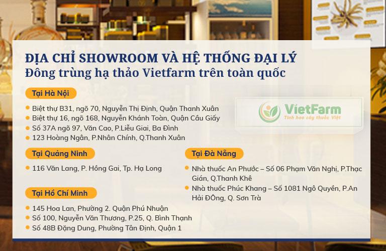 Hệ thống showroom và đại lý Vietfarm trên toàn quốc