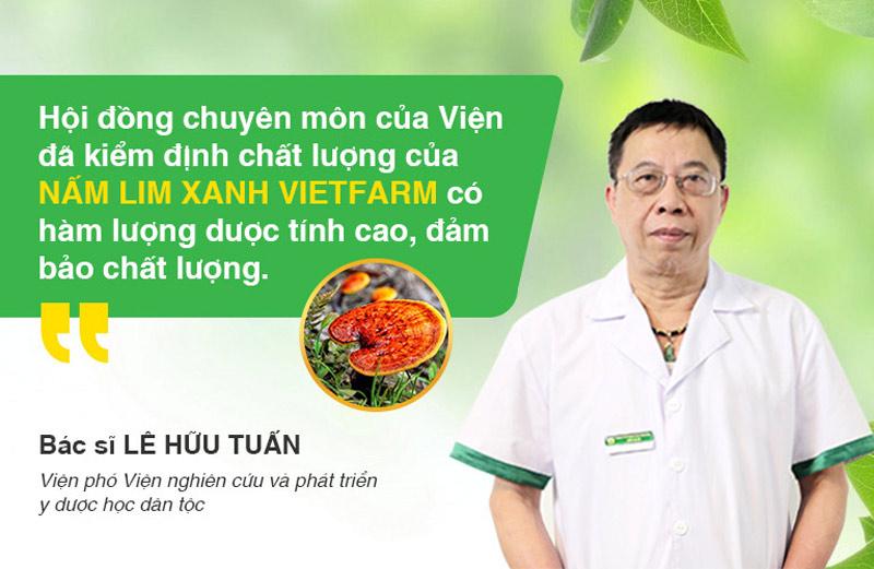 Nấm lim xanh Vietfarm được kiểm định chặt chẽ, đảm bảo chất lượng tốt nhất