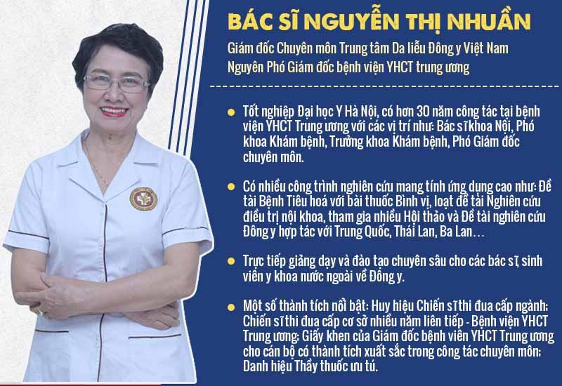 Kể từ tháng 1/2017 đến nay, bác sĩ Nhuần giữ vai trò là Giám đốc Chuyên môn Trung tâm Da liễu Đông y Việt Nam Vinacare