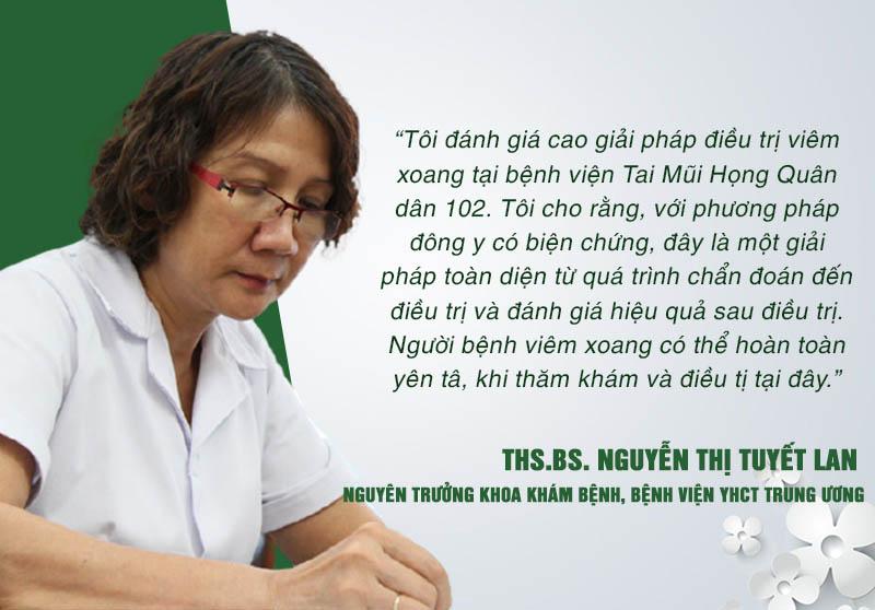 Nhận xét của bác sĩ Tuyết Lan về liệu trình thảo dược trị viêm xoang