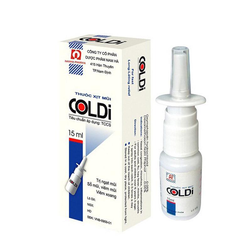 Thuốc xịt mũi Coldi-B trị viêm xoang