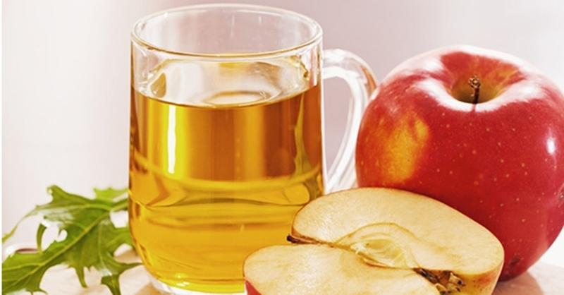 Uống nước giấm táo giúp trị viêm xoang nghẹt mũi