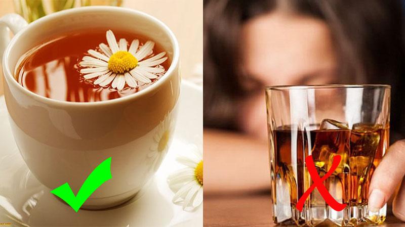 Sử dụng một số loại trà thảo dược để cải thiện tình trạng dị ứng, mề đay sau khi uống rượu