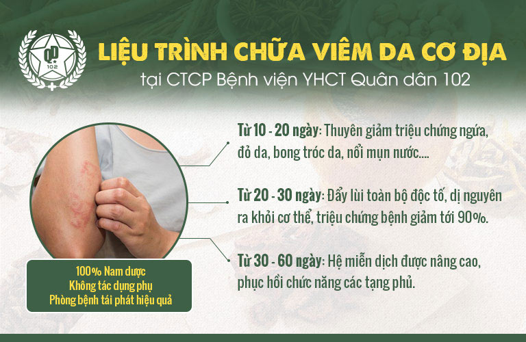 Giải pháp chữa viêm da cơ địa Quân dân 102 giúp giảm khô da, dứt con ngứa nhanh chóng