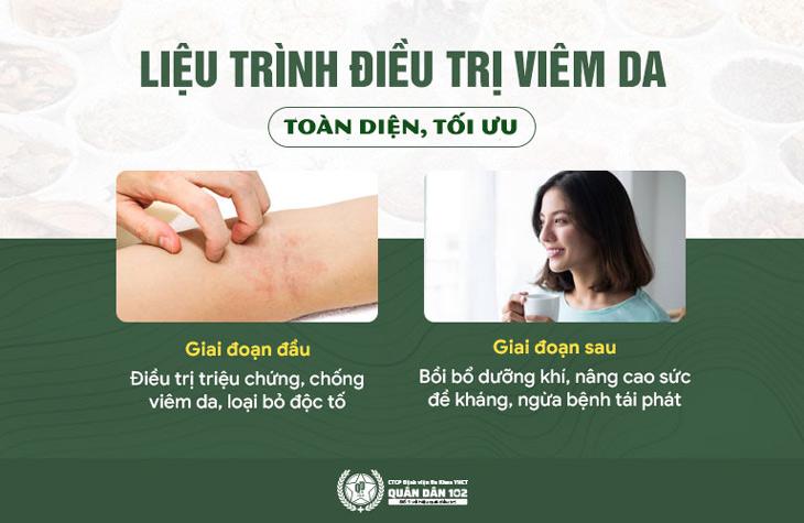 Điều trị theo từng giai đoạn giúp loại bỏ cả 2 nhóm nguyên nhân gây bệnh
