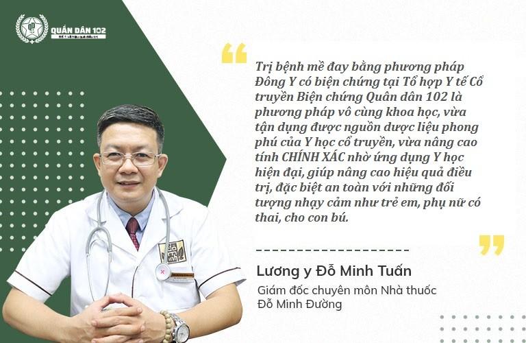 Lương Y Đỗ Minh Tuấn nhận định về phương pháp chữa mề đay Quân dân 102