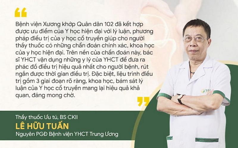Thầy thuốc ưu tú, BSCKII Lê Hữu Tuấn chia sẻ về phương pháp điều trị mới