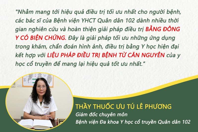 Bác sĩ Lê Phương chia sẻ phương pháp điều trị của bệnh viện