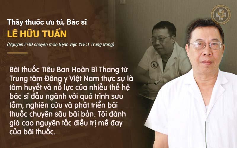 Bác sĩ Tuấn nhận xét bài thuốc chữa mề đay của Trung tâm Đông y Việt Nam