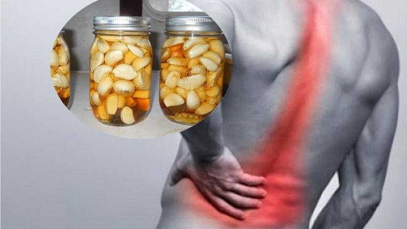 Sử dụng rượu tỏi đúng cách giúp giảm đau nhức xương khớp hiệu quả cao