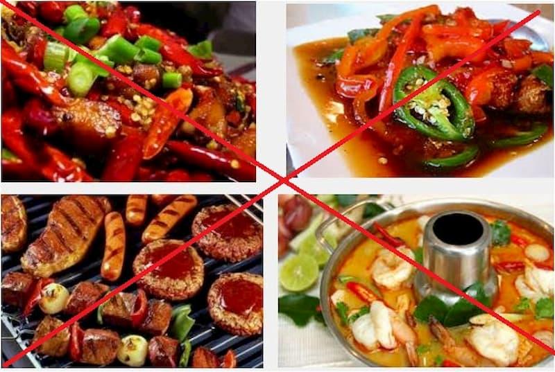 Tránh sử dụng các thực phẩm kiêng kỵ với người yếu sinh lý