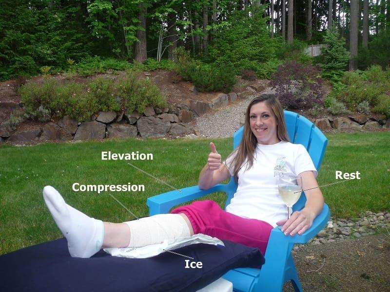 Phương pháp RICE trong điều trị khớp chân