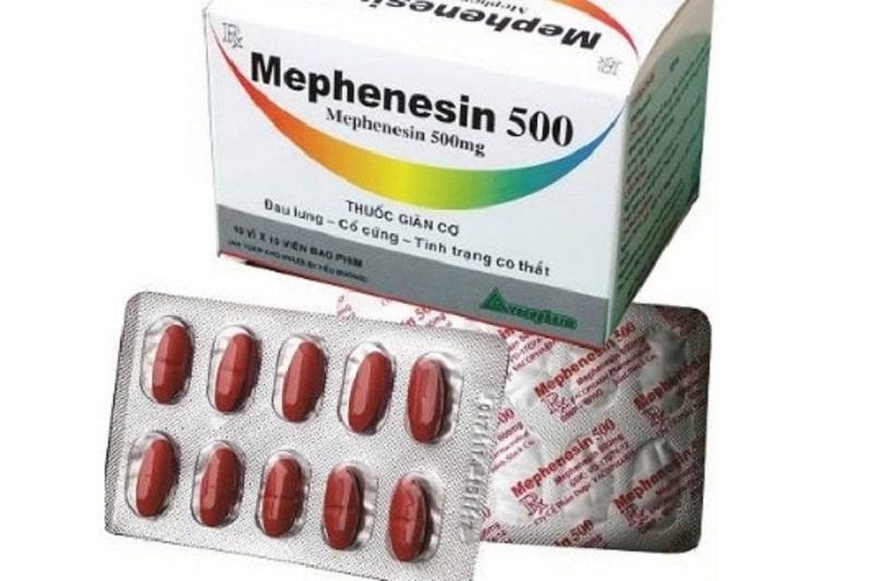 Thuốc giãn cơ hiệu quả Mephenesin
