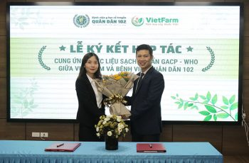 Ngày 4/8/2020, Lễ ký kết cung ứng dược liệu sạch đạt GACP - WHO giữa BV.Quân Dân 102 và Trung tâm Dược liệu Vietfarm đã diễn ra thành công