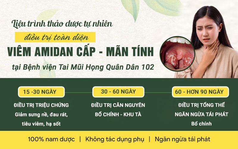 Liệu trình điều trị viêm amidan tại Bệnh viện Tai Mũi Họng Quân Dân