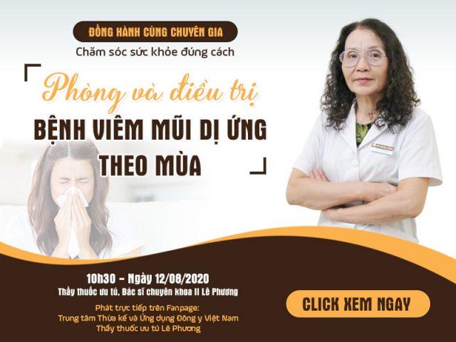Livestream phòng và điều trị viêm mũi dị ứng theo mùa