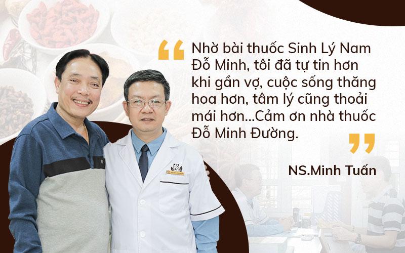 NSUT Minh Tuấn tin tưởng điều trị tại Đỗ Minh Đường và đạt kết quả tốt