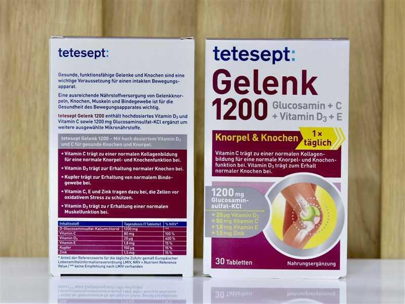 Thuốc hỗ trợ điều trị viêm khớp của Đức - Tetesept Gelenk 1200 Intens Plus