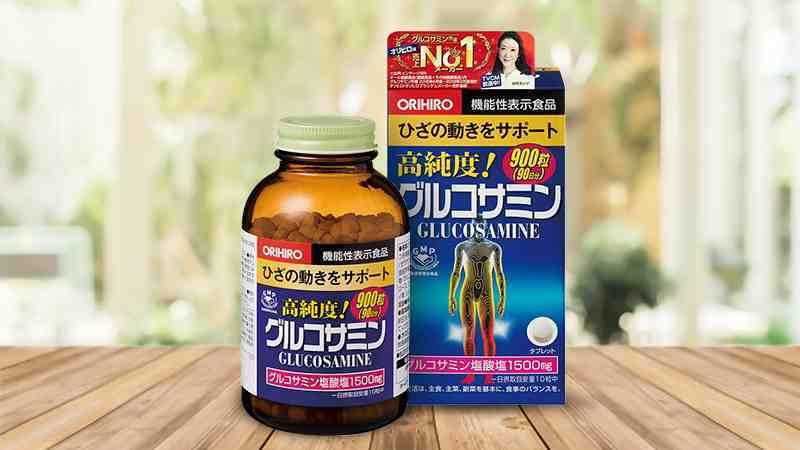 Thuốc trị đau nhức xương khớp Glucosamine Orihiro 1500mg