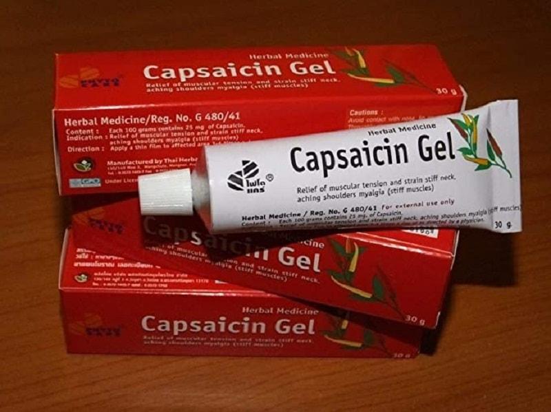 Thuốc bôi ngoài da Capsaicin