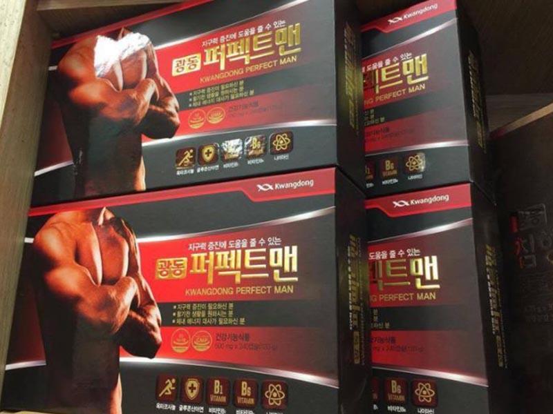 Kwangdong Perfect Man là thuốc tăng sinh lý nam Hàn Quốc có chứa nhân sâm