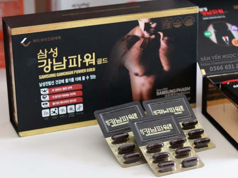Thuốc tăng cường sinh lý nam Hàn quốc Samsung Gangnam Power Gold được nhiều người lựa chọn