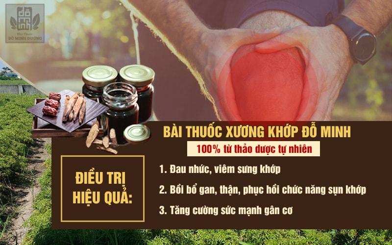 Phương thuốc điều trị viêm đau khớp 150 năm nhà thuốc Đỗ Minh Đường