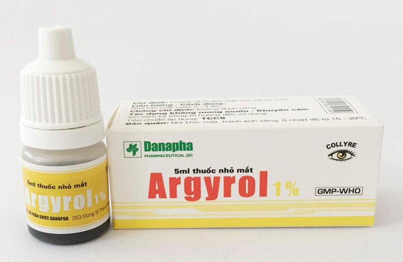 Argyrol thường được lựa chọn để làm săn se niêm mạc mũi, giảm sung huyết và chảy nước mũi