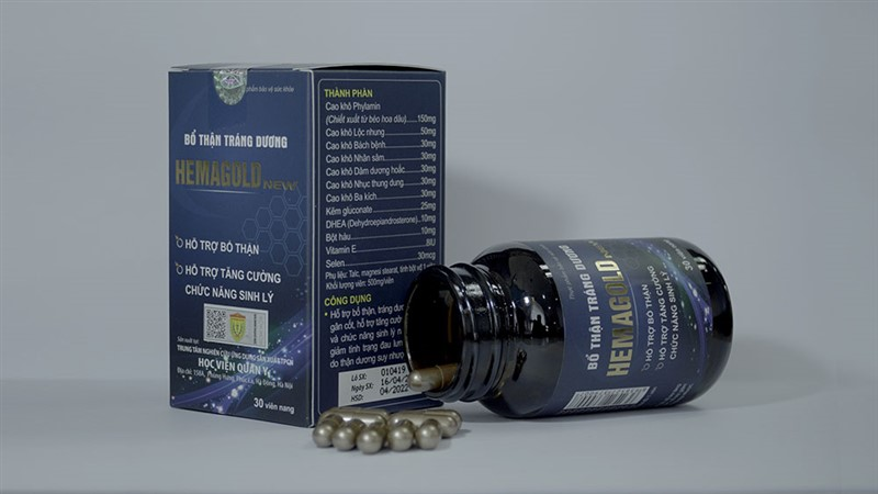 Hemagold được sản xuất và thử nghiệm bởi Học viện Quân Y
