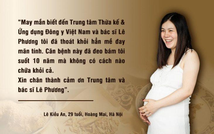 Chị Lê Kiều An sau 2 năm điều trị bệnh