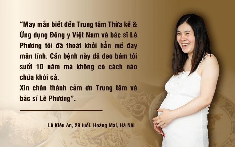 Chị Lê Kiều An sau gần 2 năm điều trị bệnh