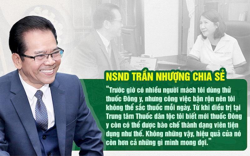 NSND Trần Nhượng chia sẻ về chất lượng bài thuốc điều trị trào ngược dạ dày Sơ can Bình vị tán