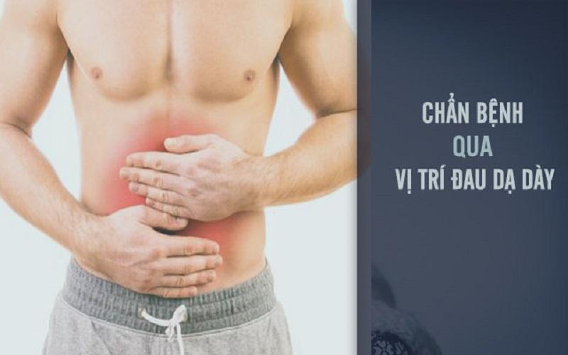 Vị trí đau dạ dày thường gặp ở người bệnh