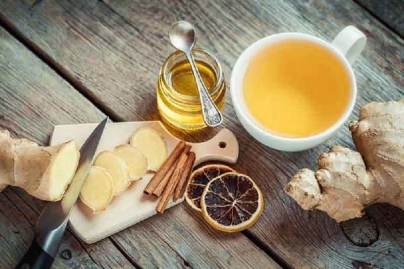 Trà gừng giúp giảm đau dạ dày