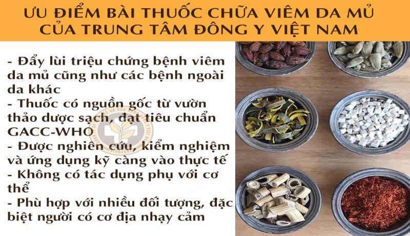 Ưu điểm nổi trội của bài thuốc tại Trung tâm Đông y Việt Nam