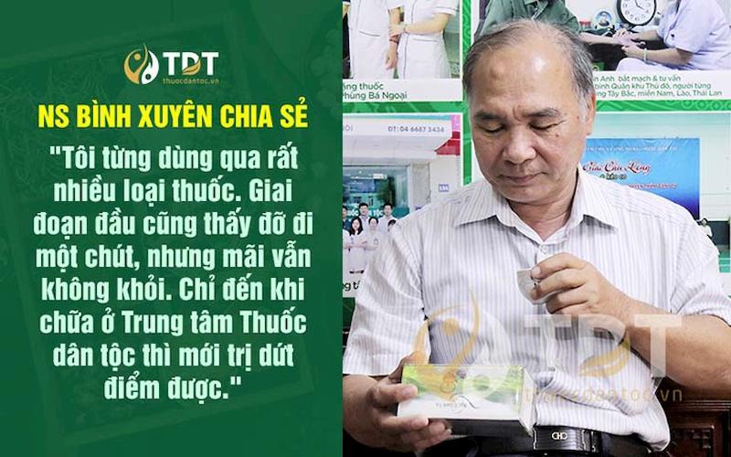 Nghệ sĩ Bình Xuyên chia sẻ về kết quả sau khi dùng thuốc Thăng trĩ Dưỡng huyết thang