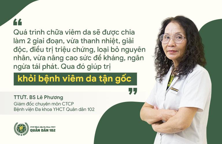 Bác sĩ Lê Phương chia sẻ về phương pháp điều trị viêm da mặt nổi mụn