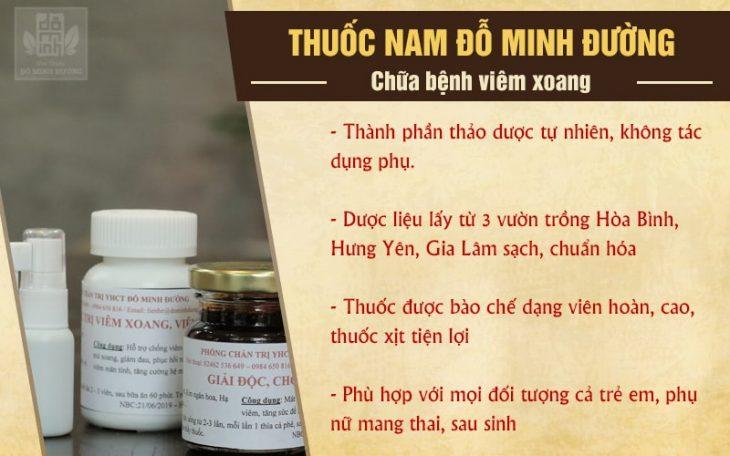 Liệu trình bài thuốc viêm xoang Đỗ Minh Đường