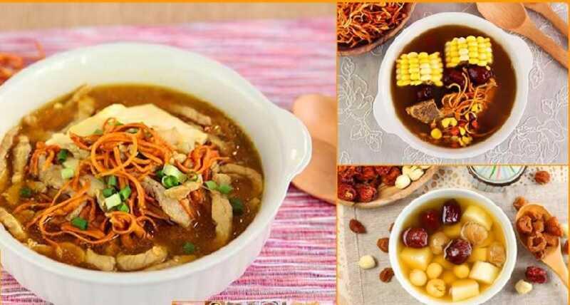 Một số món ăn bồi bổ cơ thể với trùng thảo