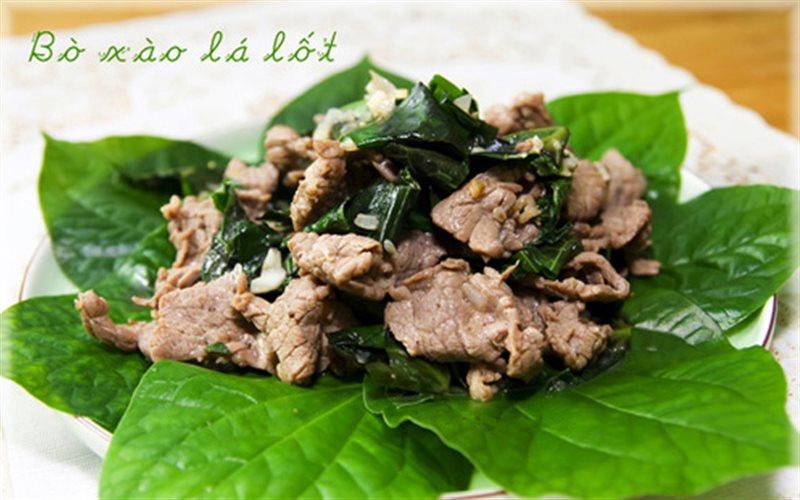 Món bò xào lá lốt dễ thực hiện, tốt cho bệnh xương khớp