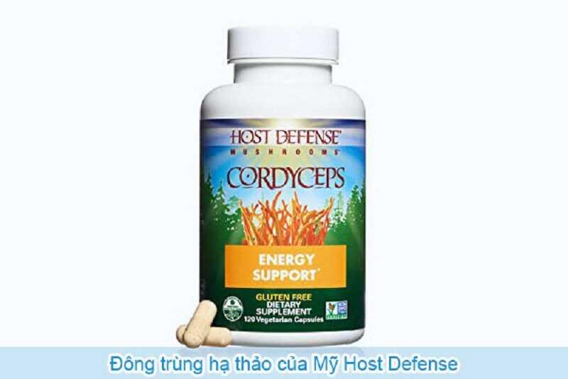 Nguyên liệu chính của Host Defense Cordyceps được nuôi trồng ở dạng hữu cơ