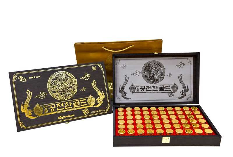 Đông trùng hạ thảo loại hộp gỗ đen 60 viên Hàn Quốc thích hợp làm quà biếu tặng cao cấp