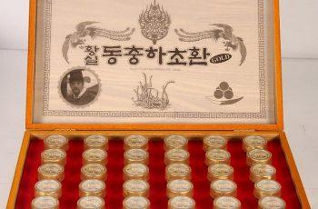 Sản phẩm Đông trùng hạ thảo hộp gỗ vàng 30 viên Gyoungju Hàn Quốc